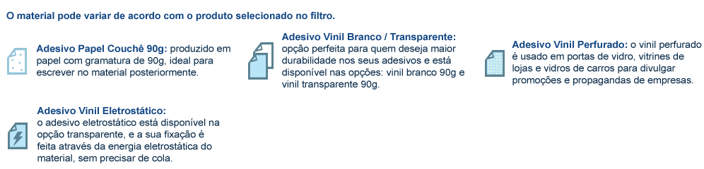Material para Adesivo Parachoque