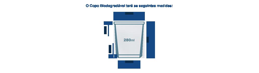 Tamanho para Copo Biodegradável 280ml