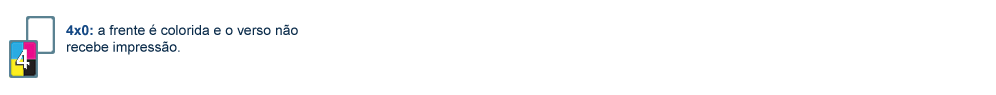 Cor para Display de Mesa PVC Dados Variáveis