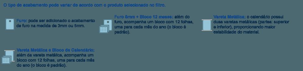 Acabamentos para Folhinha
