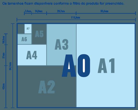 Tamanho para Display de Mesa PVC