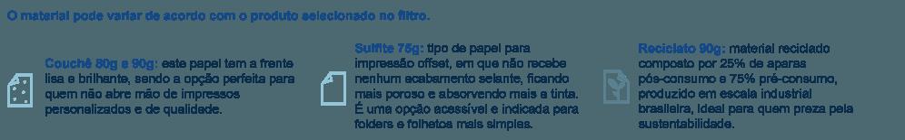 Materiais para impressão de Papel Bandeja