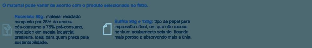 Materiais para impressão de Timbrado
