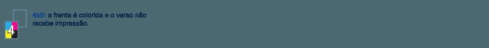 Papel Timbrado com frente colorida e verso sem impressão