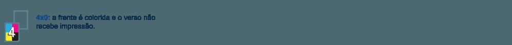 Pirâmide de Papel com frente colorida e verso sem impressão