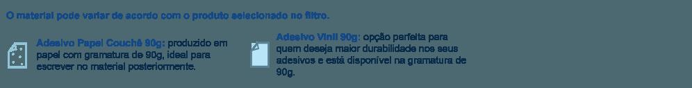 Adesivo Vinil 90g, Adesivo papel couchê 90g