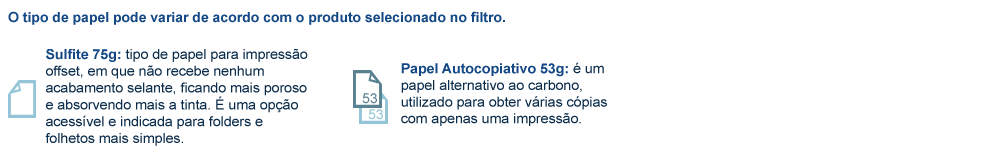 papel sulfite75g ou autocopiativo 53g