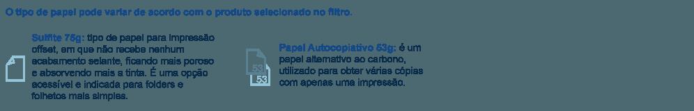papel sulfite75g ou autocopiativoa 53g copiativo